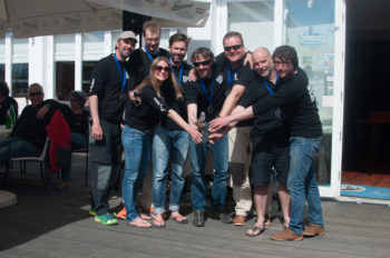 2. Platz: Gerhard Tüchler (NCA) - Martin Eichberger (NCA) / ReefRaffRacing / Musto Markus Gaugeler (NCA), Mario Reiterer (ÖSV), Nikolas Strobl (NCA), Alexander Harrich (NCA), Isabella Wuthe (BWWC), Mark Ressel