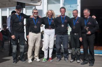 3. Platz: Wolfgang Lux (ÖSV) - Gerhard Reseterics (YCS) / die Z'sammgwürfelten Ingrid Heiter-Reiffenstuhl (STYC), Tekin Sayimer (ÖSV), Thomas Harbich (IG-Segeln), Oliver Rihl (SYC), Frank Fürntrath, Herbert Wallner (SSC)