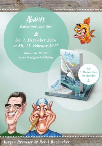 Abdrift - Satire für Segler, ein Buch von Jürgen Preusser mit Karikaturen von Reini Buchacher
