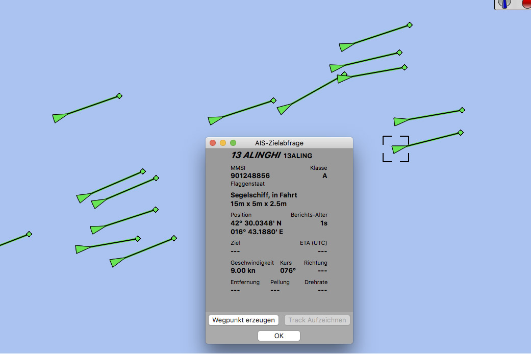 Round Palagruza Cannonball – AIS-Tracking by Ronnie Zeiller.eu